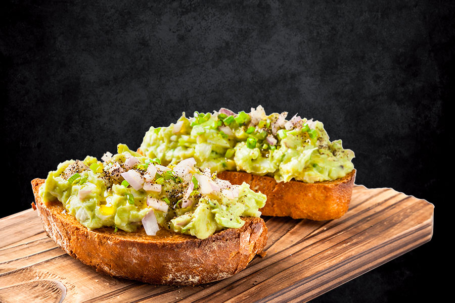 Avocado Dip Bruschetta